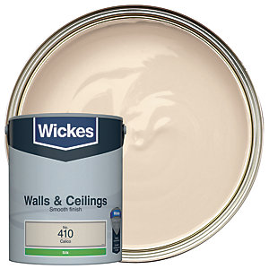 Wickes Calico - No. 410 Vinyl Silk Emulsion Paint - 5L