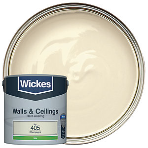 Wickes Champagne - No.405 Vinyl Silk Emulsion Paint - 2.5L