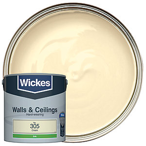 Wickes Cream - No.305 Vinyl Silk Emulsion Paint - 2.5L