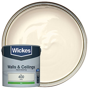 Wickes Ivory - No.400 Vinyl Silk Emulsion Paint - 2.5L