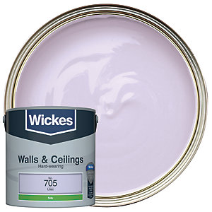Wickes Lilac - No.705 Vinyl Silk Emulsion Paint - 2.5L