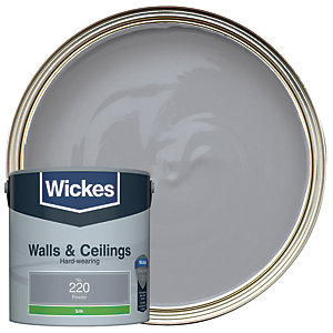Wickes Pewter - No.220 Vinyl Silk Emulsion Paint - 2.5L