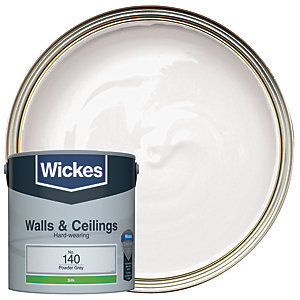 Wickes Powder Grey - No.140 Vinyl Silk Emulsion Paint - 2.5L