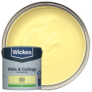 Wickes Primrose - No.500 Vinyl Silk Emulsion Paint - 2.5L