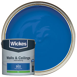 Wickes Royal Sapphire - No.950 Vinyl Silk Emulsion Paint - 2.5L