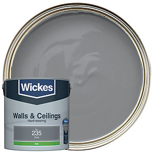 Wickes Slate - No.235 Vinyl Silk Emulsion Paint - 2.5L