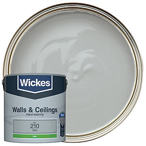 Wickes Steel - No.210 Vinyl Silk Emulsion Paint - 2.5L