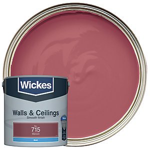 Wickes Maroon - No.715 Vinyl Matt Emulsion Paint - 2.5L