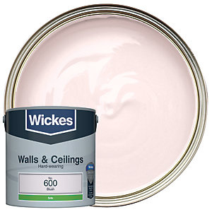 Wickes Blush - No.600 Vinyl Silk Emulsion Paint - 2.5L