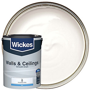 Wickes Pure Brilliant White - No. 0 Vinyl Matt Emulsion Paint - 5L
