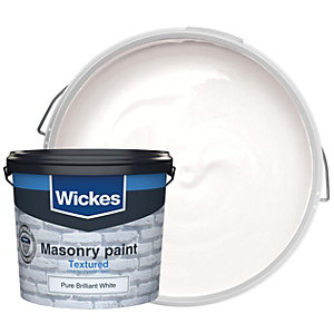 Wickes Masonry Textured Pure Brilliant White 5L