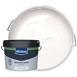 Wickes Masonry Smooth Pure Brilliant White 10L