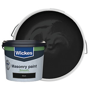 Wickes Masonry Smooth Black 5L
