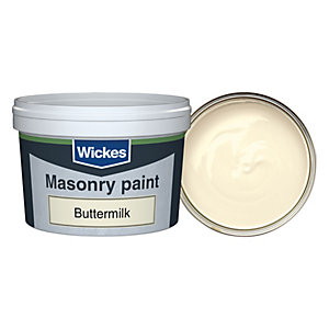 Wickes Masonry Smooth Tester Buttermilk 250ml
