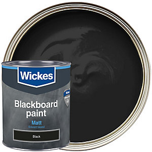 Wickes Blackboard Paint Matt Black 750ml
