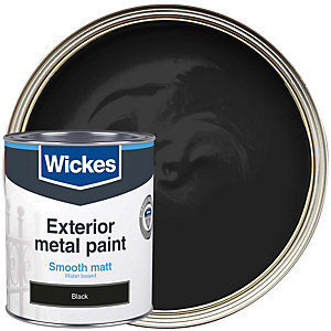 Wickes Metal Paint Smooth Finish Matt Black 750ml