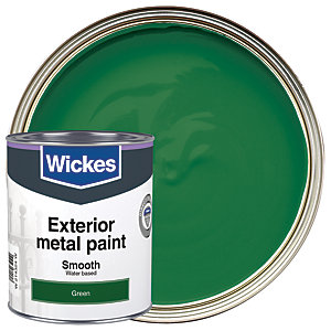 Wickes Metal Paint Smooth Finish Satin Green 750ml