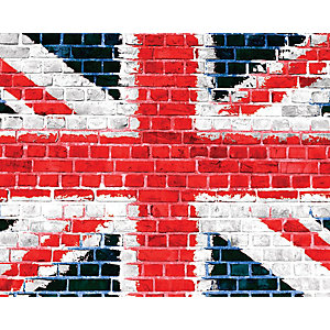 ohpopsi Union Jack On Brick Wall Mural