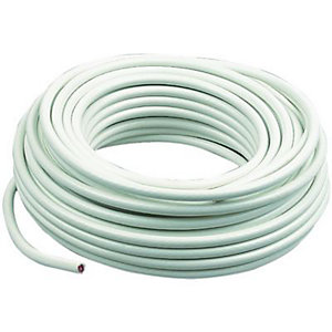 Wickes Coaxial Cable - White 20m