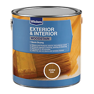Wickes Quick Drying Woodstain - Warm Oak 750ml