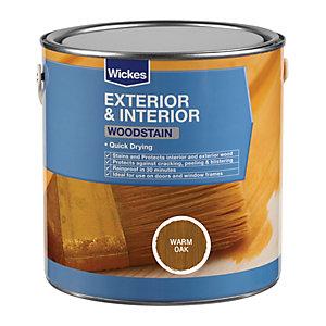 Wickes Quick Drying Woodstain - Warm Oak 2.5L