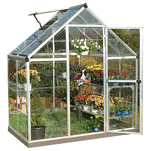 Palram 6 x 4ft Harmony Aluminium Apex Greenhouse with Clear Polycarbonate Panels
