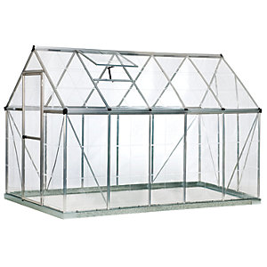 Palram 6 x 10ft Harmony Large Aluminium Apex Greenhouse with Polycarbonate Panels