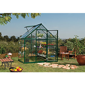 Palram 6 x 4ft Harmony Aluminium Apex Greenhouse with Polycarbonate Panels