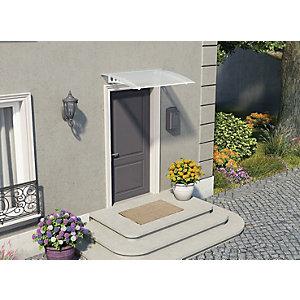 Palram Lyra Twinwall Polycarbonate Door Canopy White - 905 x 1350 mm