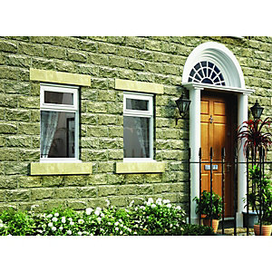 Wickes White Timber Casement Window - Top Hung 625 x 1045mm