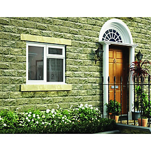 Wickes White Timber Casement Window - LH Side Hung & Top Hung 1045 x 1195mm