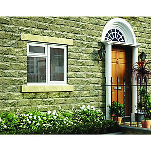 Wickes White Timber Casement Window - RH Side Hung & Top Hung 1045 x 1195mm