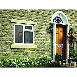 Wickes White Timber Casement Window - LH Side Hung & Top Hung 1195 x 1195mm