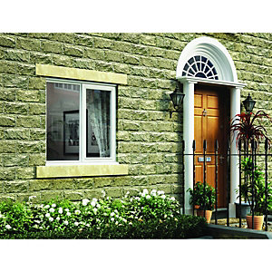 Wickes White Timber Casement Window - RH Side Hung & Fixed Lite 1195 x 1195mm