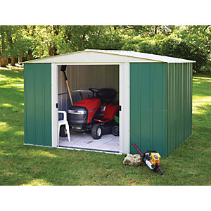 Rowlinson 10 x 8 ft Large Metal Double Door Apex Shed without Floor