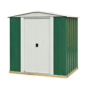 Rowlinson 6 x 5ft Double Door Metal Apex Shed including Floor