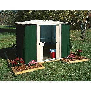 Rowlinson 8 x 6ft Double Door Metal Apex Shed including Floor