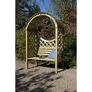 Rowlinson Keswick Curved Roof Trellis Garden Arbour - 1320 x 800 mm