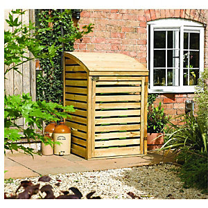 Rowlinson 3 x 3ft Timber Single Wheelie Bin Storage