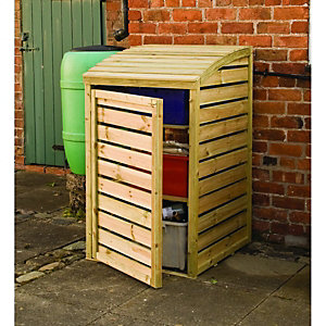 Rowlinson 2 x 3ft Timber Recycling Box Storage