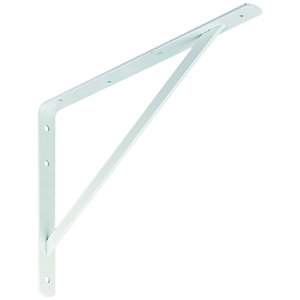 Wickes Heavy Duty Shelving Bracket White - 395 x 270mm