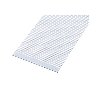 Wickes Metal Sheet Perforated Round Hole 4.0mm Anodised Aluminium - 200mm x 1m