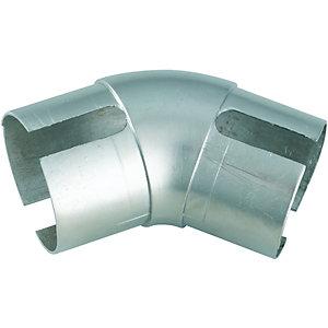 Wickes Handrail 135 Degree Elbow - Brushed Nickel