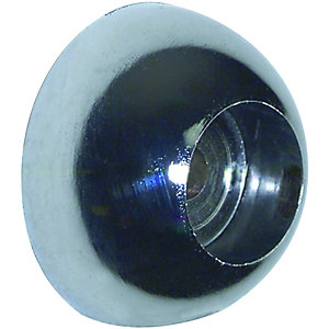 Wickes Interior Wardrobe Rail Covered Socket - 25mm Chrome Pack of 2