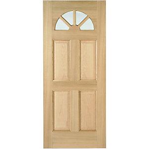 Wickes Carolina External Oak Door Glazed 4 Panel 2032 x 813mm