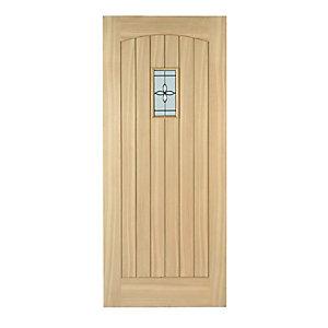 Wickes Croft External Cottage Oak Door Glazed 2032 x 813mm