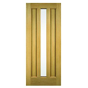 Wickes York External Oak Door Glazed 2032 x 813mm