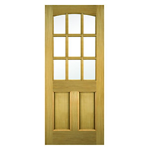 Wickes Georgia External Oak Door Glazed 2 Panel
