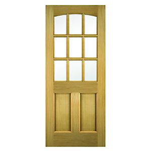 Wickes Georgia External Oak Door Glazed 2 Panel 2032 x 813mm