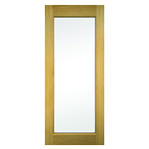 Wickes Oxford External Oak Door Glazed 2032 x 813mm